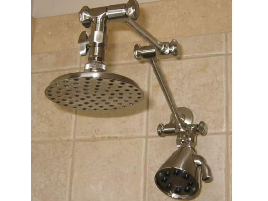 Ordinaire This Is Our Best Dual Shower Head Set And Has Our 5.25 Euro Rain Shower  Shower Head On The Extension And The Giessdorf 8 Jet Shower Head On The  Wall Pipe.