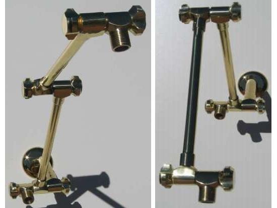 Dual Shower Head Brass Arms