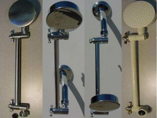 """Aussie RainShower Shower Head with 9"""" extension"""