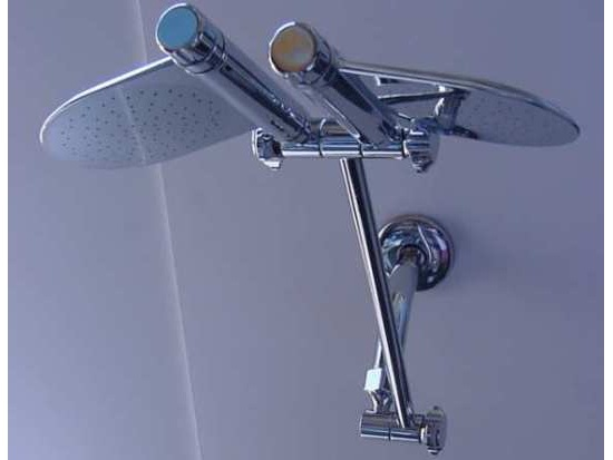Dual Paddle Rain Shower Shower Head | Shower-heads.com | Free shipping