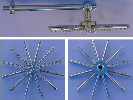"""12"""" StarBurst Shower Head & Brass Extension Arm"""