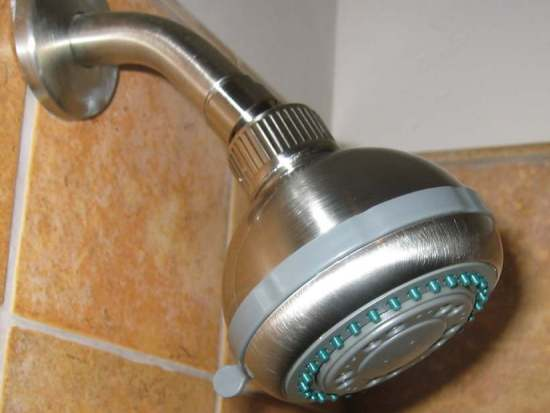 "5-Setting 'Misting"" Massage Showerhead"