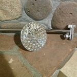 "5"" Euro Rain Shower Head with 15"" locking extension arm"