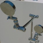 Dual Shower Arms with Aussie RainShower Heads