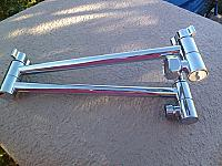 Double Locking Brass Extension Arms - Chrome